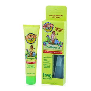 Jason Earth`s Best: Зубная паста Клубника и Банан (Todder Toothpaste Strawberry and Banana), 45 гр