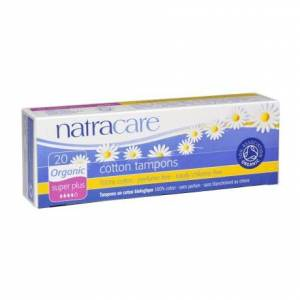 Natracare: Тампоны из натурального хлопка без аппликатора (Cotton Tampons Super Plus), 20 шт