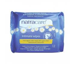 "Natracare: Салфетки интимные из ""Био-хлопка"" (Intimate Wipes), 12 шт"