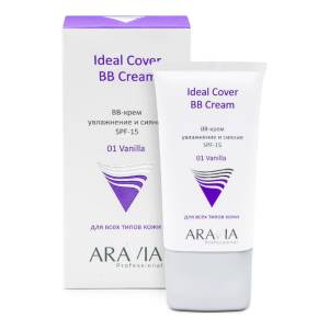 Aravia Professional: BB-крем увлажняющий SPF-15, тон 01 (Ideal Cover BB-Cream Vanilla), 50 мл