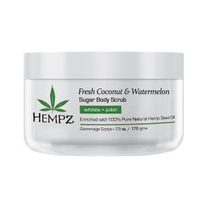 Hempz: Скраб для тела Кокос и Арбуз (Fresh Coconut & Watermelon Sugar Body Scrub), 176 гр