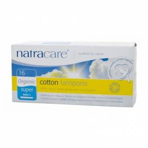Natracare: Тампоны из натурального хлопка с аппликатором (Cotton Tampons Super), 16 шт